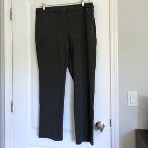 Reitmans Grey Straight Leg Dress Pants